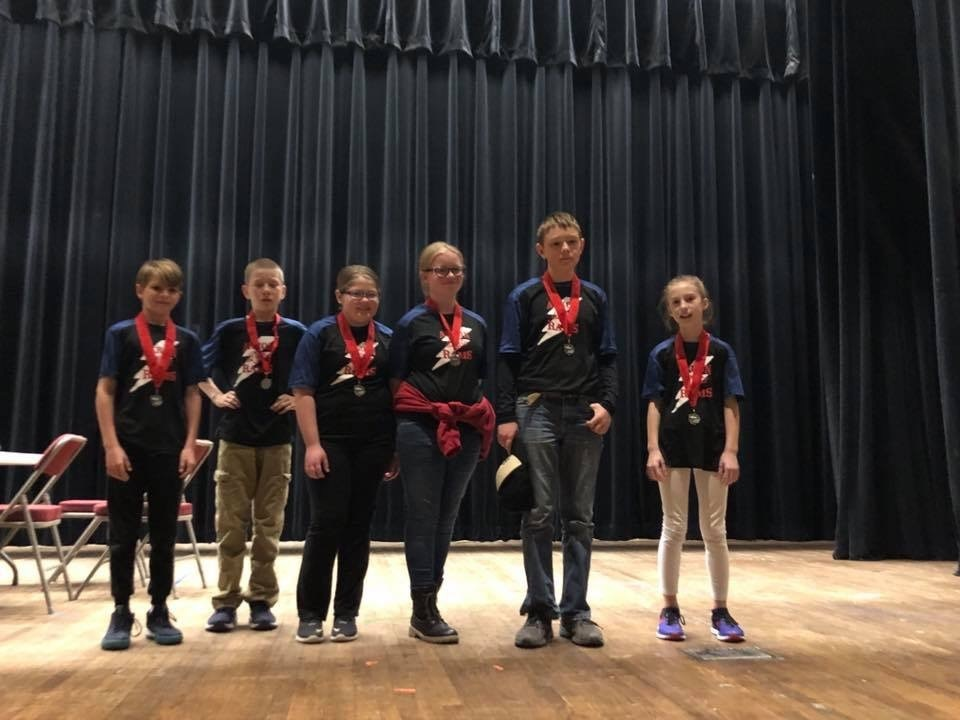 5th/6th Grade Brain Bowl Team Places 2nd