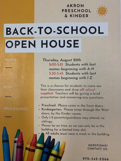 Preschool and Kindergarten Open House